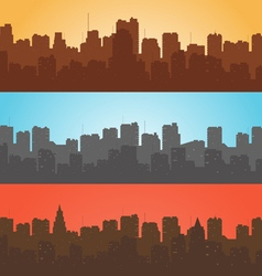 Set contour of city with a different background vector image