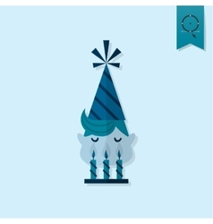 Little boy blowing out candles vector
