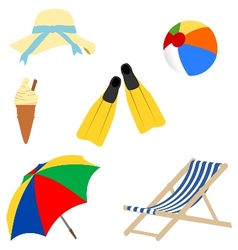 a day at the beach vector image vector image
