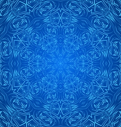 Abstract pattern in blue vector image vector image