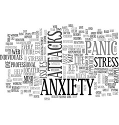 Anxiety panic attack text word cloud concept vector