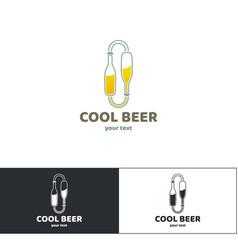beer logo three vector image vector image