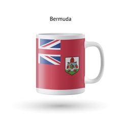 Bermuda flag souvenir mug on white background vector