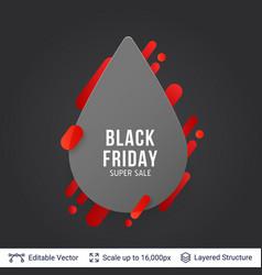 black friday super sale badge vector image