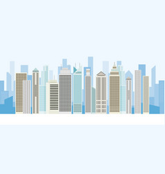 Buildings and skyscrapers background panorama vector