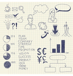 business ink doodles vector image vector image