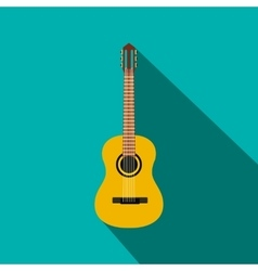 Classic guitar icon flat style vector image