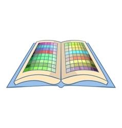 Color booklet icon cartoon style vector