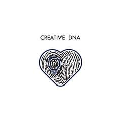 Creative light bulb idea concept and fingerprint vector