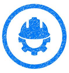 Development rounded grainy icon vector