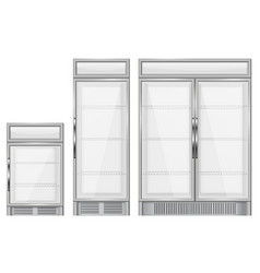 display refrigerator set of commercial vector image