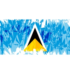 Flag of Saint Lucia vector image