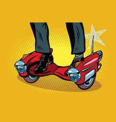 futuristic steampunk scooter skateboard vector image vector image