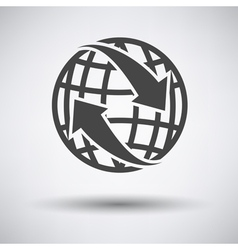 Globe with arrows icon vector image