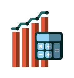 Graphic chart and calculator icon vector