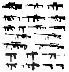guns vector image