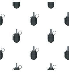Hand paintball grenade pattern flat vector