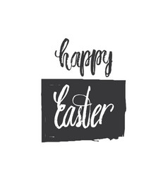 happy easter lettering modern hand written easter vector image vector image