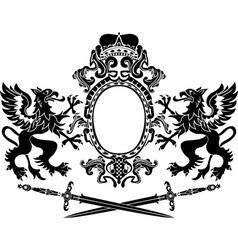 Heraldic banner vector image vector image