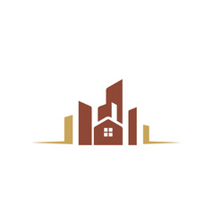 House building cityscape logo vector