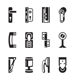 Interior and exterior fasteners vector image vector image