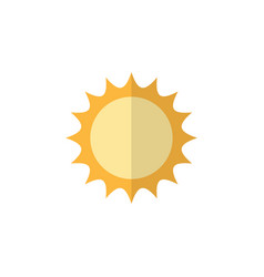 Isolated sun flat icon solar element can vector