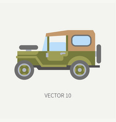Line tile color hunt and camping icon off vector