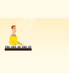 man playing the piano vector image vector image