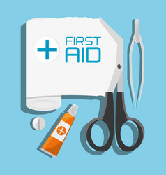 Medical first aid tools treatment vector