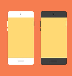 Mobile phone in flat style vector image