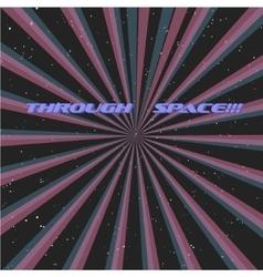 Multicolor Sunbeams grunge background A vintage vector image