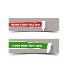New Year colors poster templat vector image
