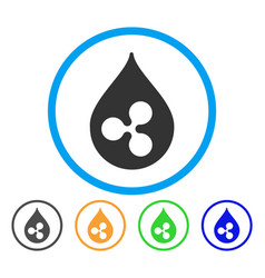 Ripple drop rounded icon vector