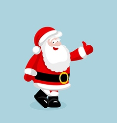 Santa Claus showing thumb up vector image vector image