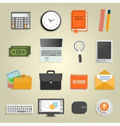 Set of various financial service items vector image