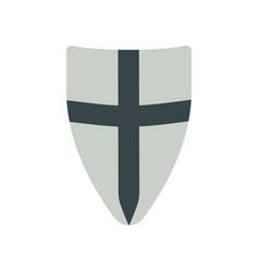 shield medieval weapons flat isolated vector image