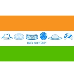 Unity in diversity of india vector