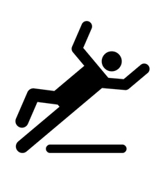 Wet floor caution sign vector image