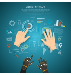 Virtual interface design concept vector
