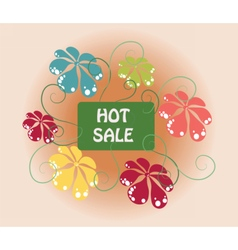 Hot summer sale sign vector