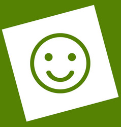 Smile icon  white icon obtained as a vector