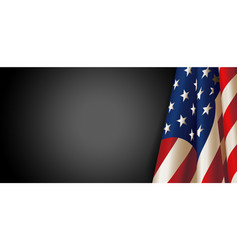 American flag for memorial day vector