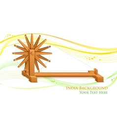Spinning wheel on india background vector