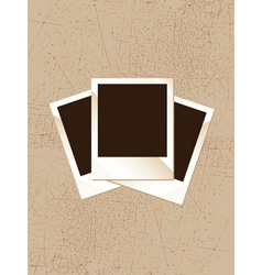 grunge polaroid vector image