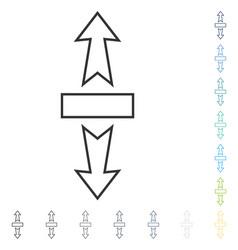 Stretch arrows vertically icon vector