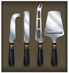 cheese knife on brawn vector image