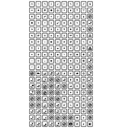 200 universal web icons set vector image