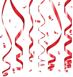 Holiday serpentine ribbons set vector