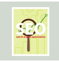 Search engine flat with magnifying vector