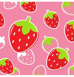 Strawberry fruit pattern vector